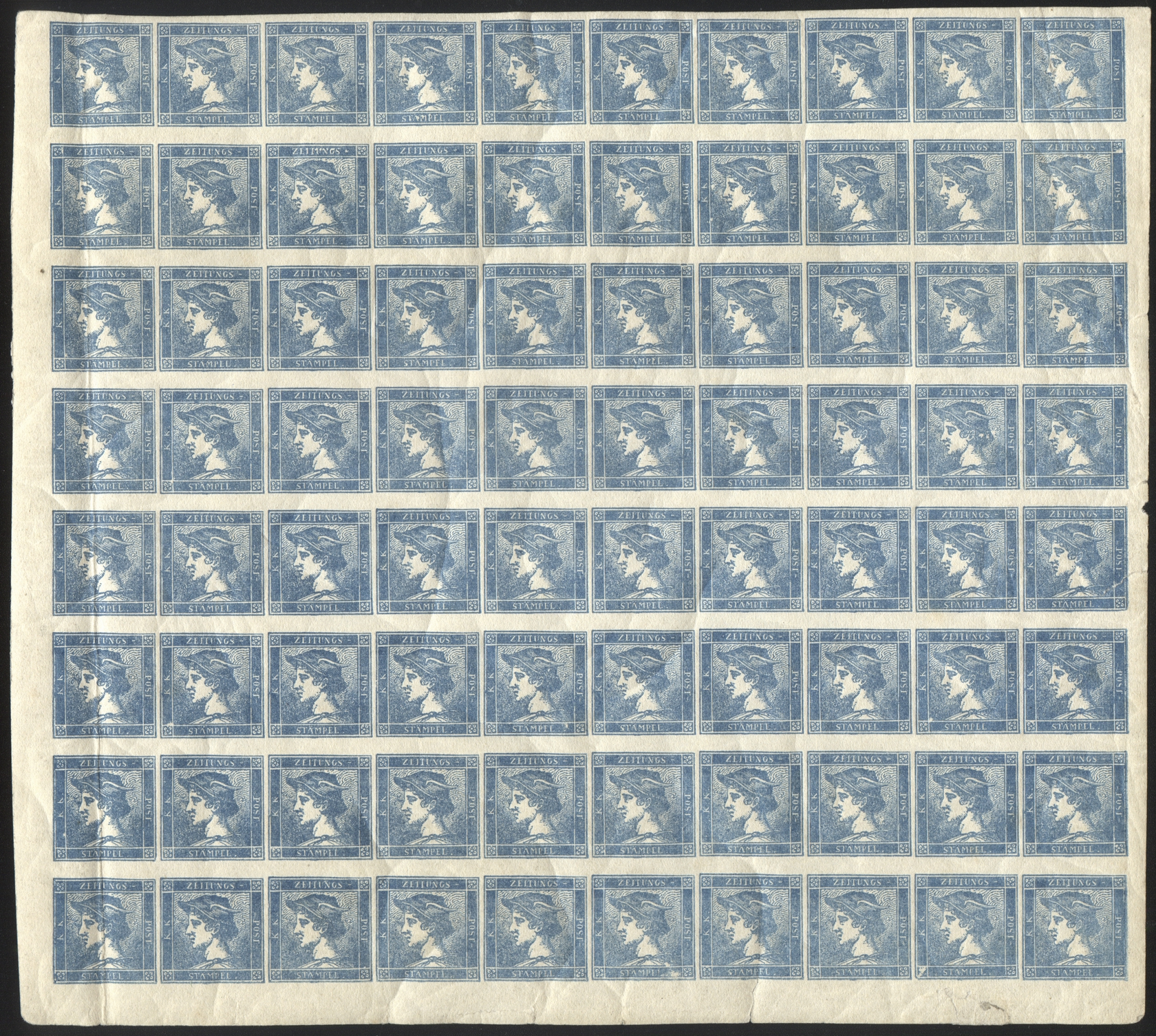 "AUSTRIA 1851 ""BLUE MERCURY"""