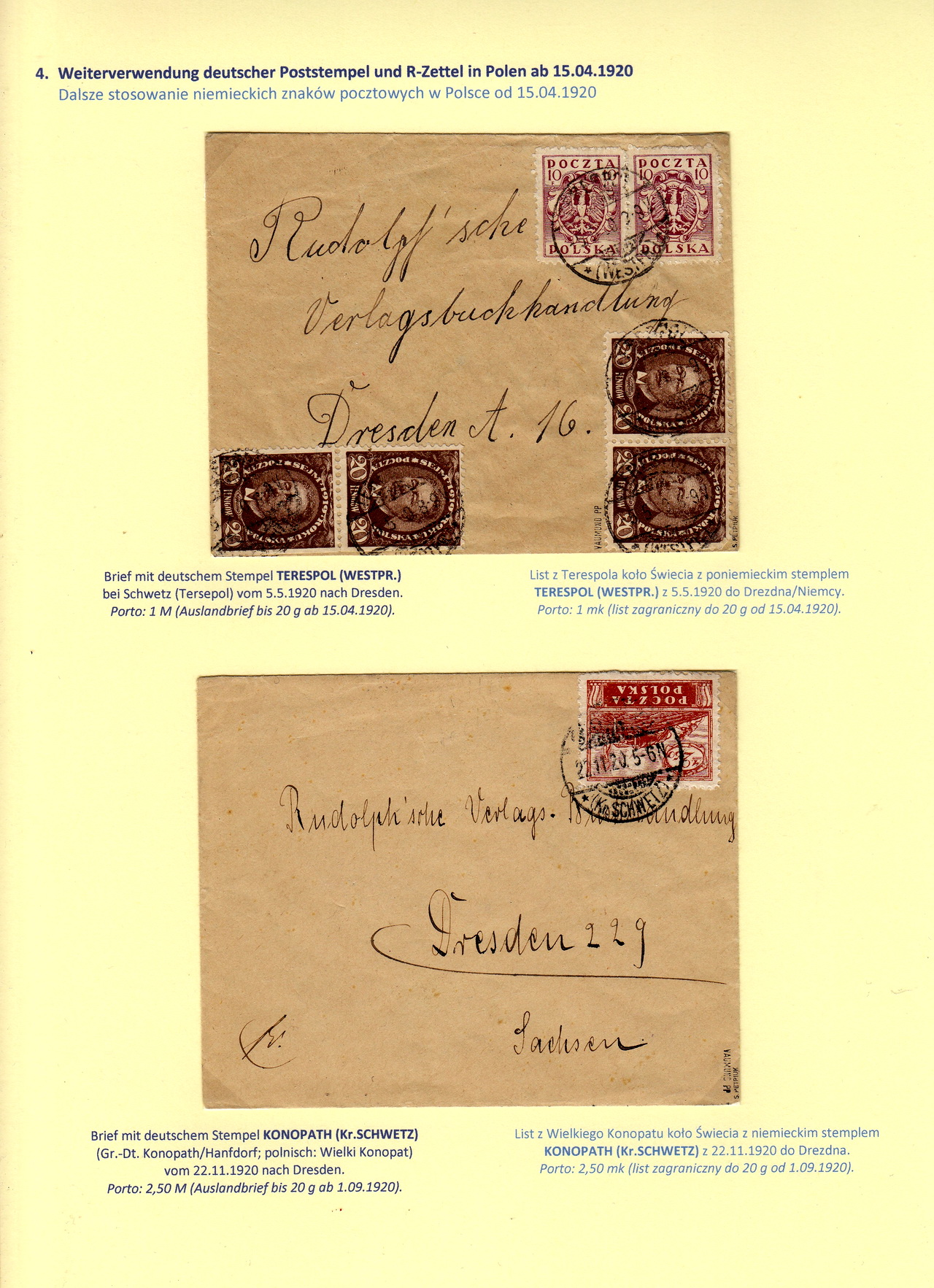 Post At West Poland 1919 1920 Exponet